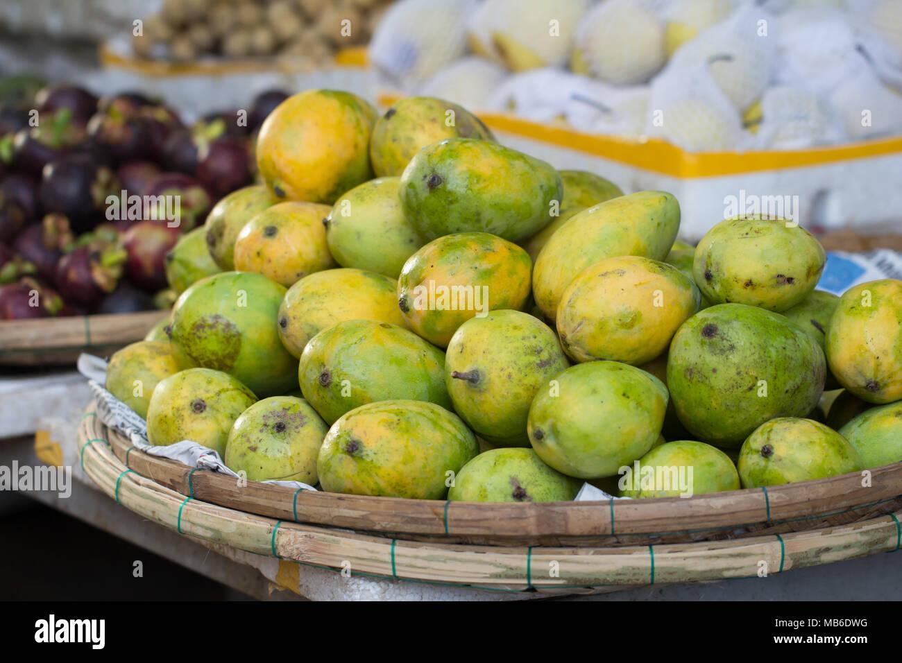 Mango Haufen closeup Stockbild