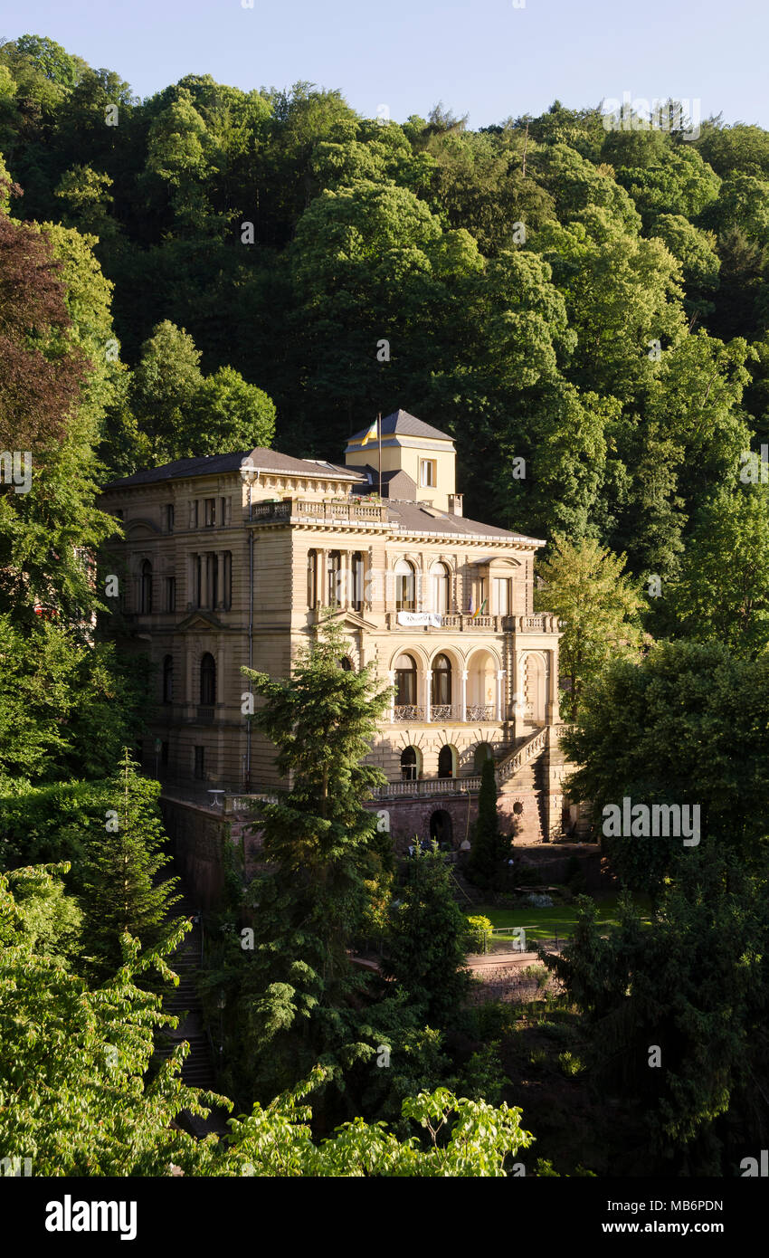 Villen, Heidelberg, Baden-Württemberg, Deutschland, Europa ...