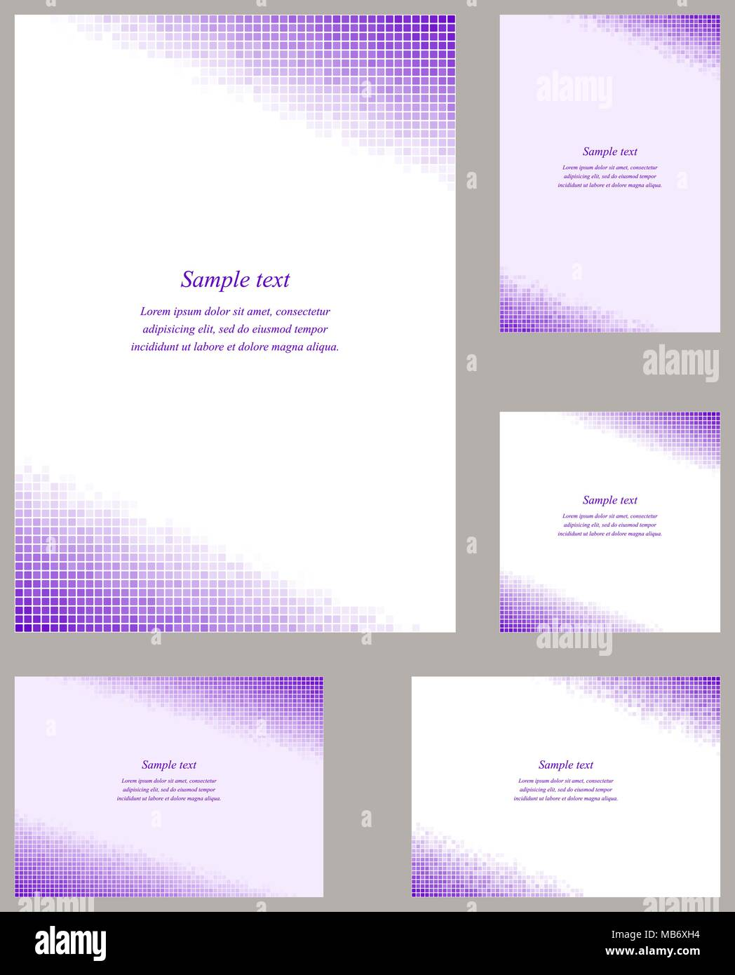 Purple Pixel Mosaic Page Layout Stockfotos & Purple Pixel Mosaic ...