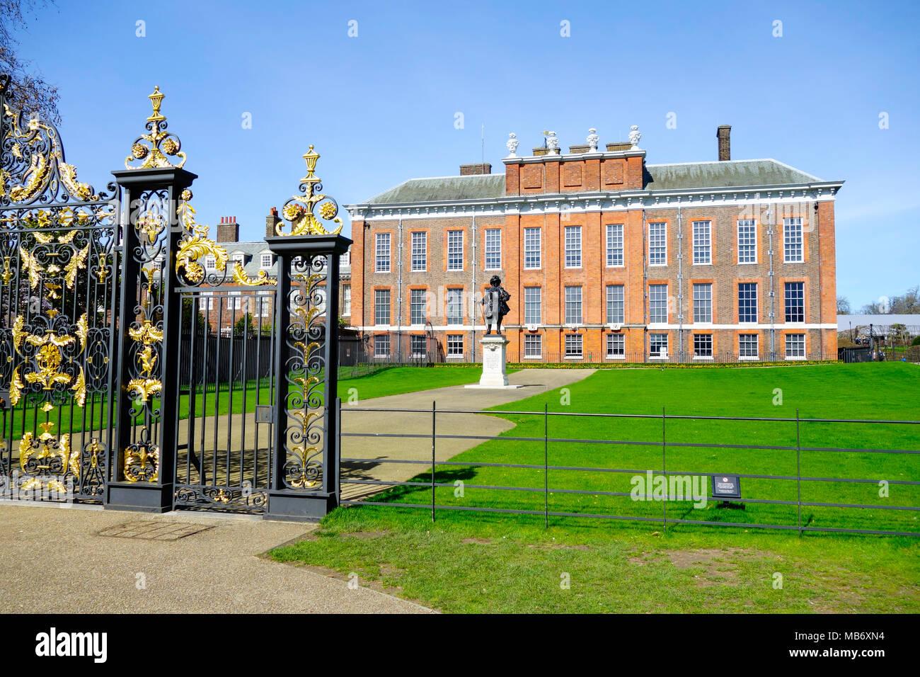Kensington Palace, Kensington Gardens, London, England, Vereinigtes Königreich, Europa Stockbild