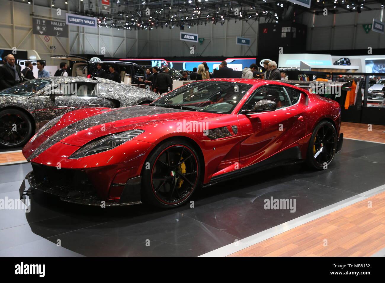 Die Autos Der Genfer Auto Salon Mit Mansory Stallone Ferrari 812