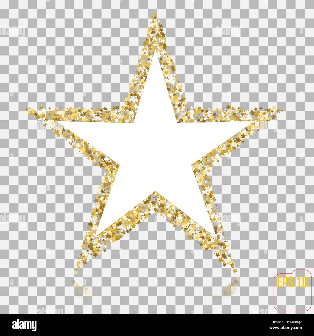 golden glitter star der vielen kleinen sterne vektor. Black Bedroom Furniture Sets. Home Design Ideas