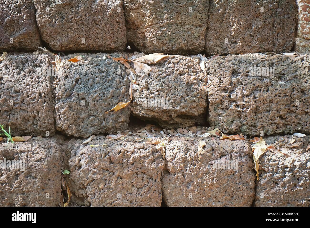 Fußboden Aus Ziegelsteinen ~ Hintergrund strukturierte aus rotem laterit ziegelsteinen an der