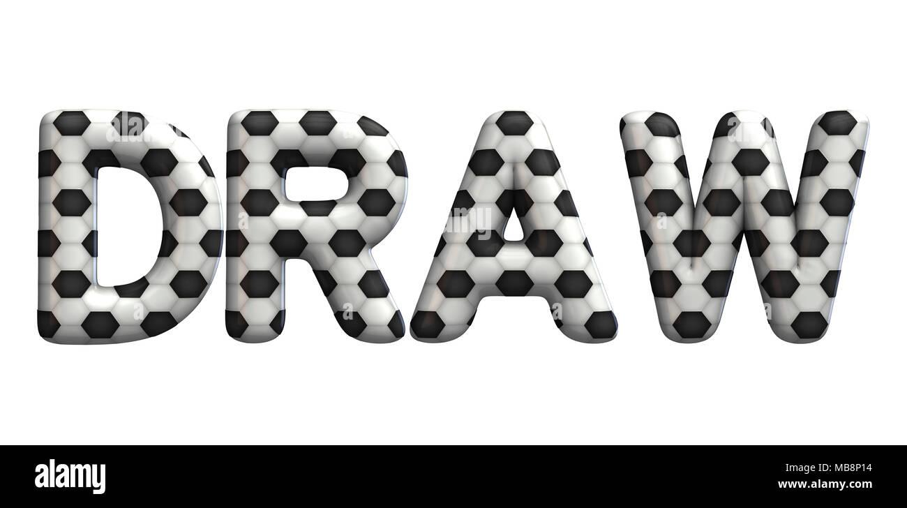 Zeichnen Wort Aus Einer Fussball Fussball Textur 3d Rendering