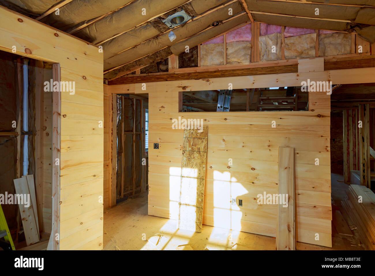 Mit holzmaserung verkleidung mit s ule und deckenbalken molding konstruktion einer neuen - Leuchtkasten selber bauen ...