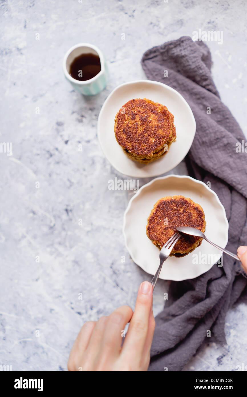 Quinoa Pfannkuchen Stockbild
