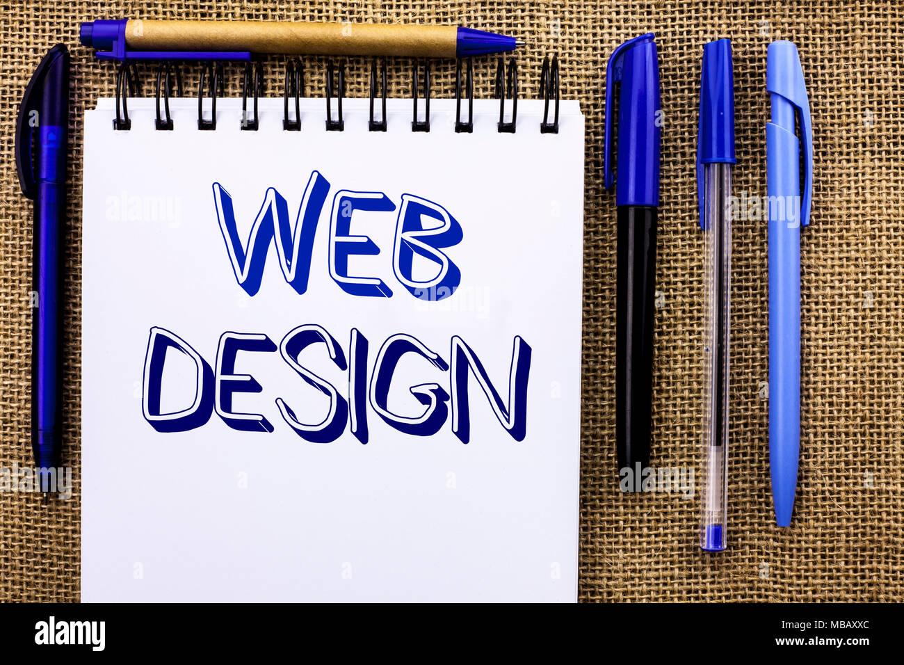 Schreiben Hinweis Angezeigt Web Design Business Foto Präsentation