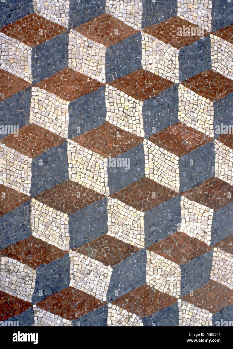 Romische Mosaik Aus Dem 2 Jahrhundert Auf Dem Boden Eines