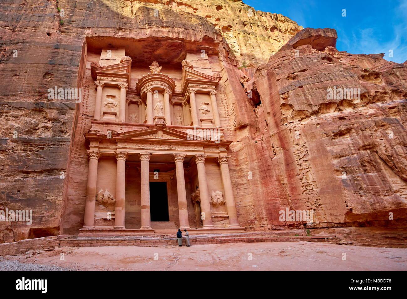 Al Khazneh Treasury, Petra, Jordanien Stockbild