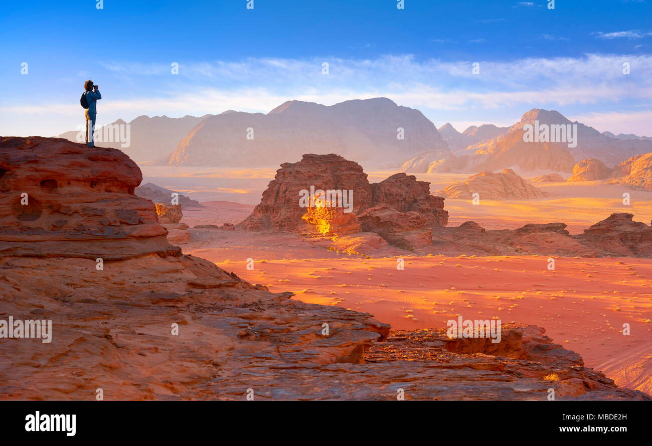 Wüste Wadi Rum, Jordanien Stockbild