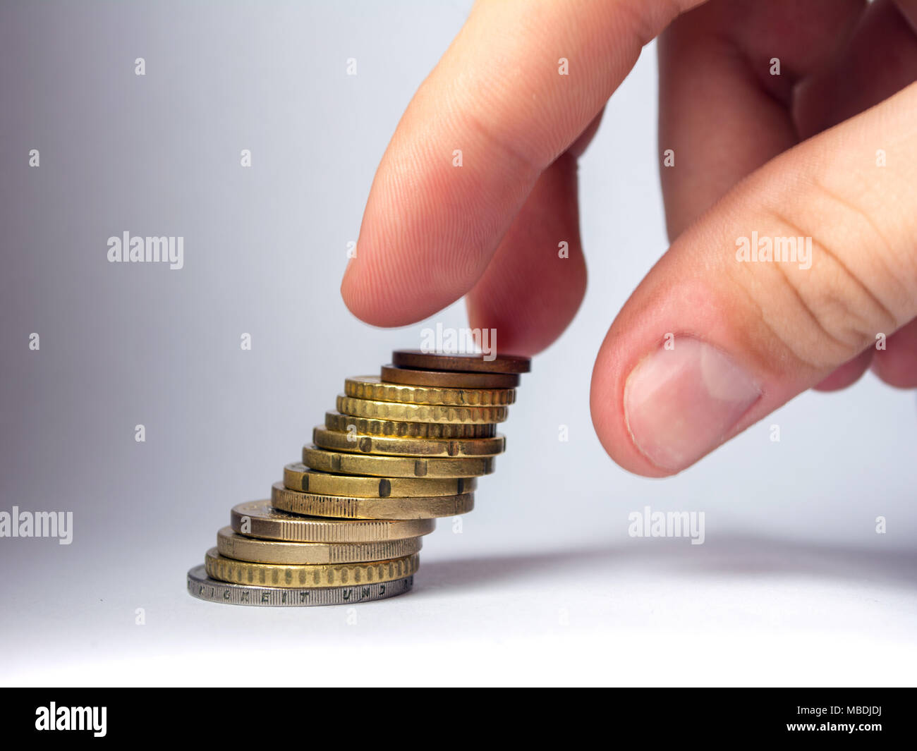 Geld gespart. Stockbild