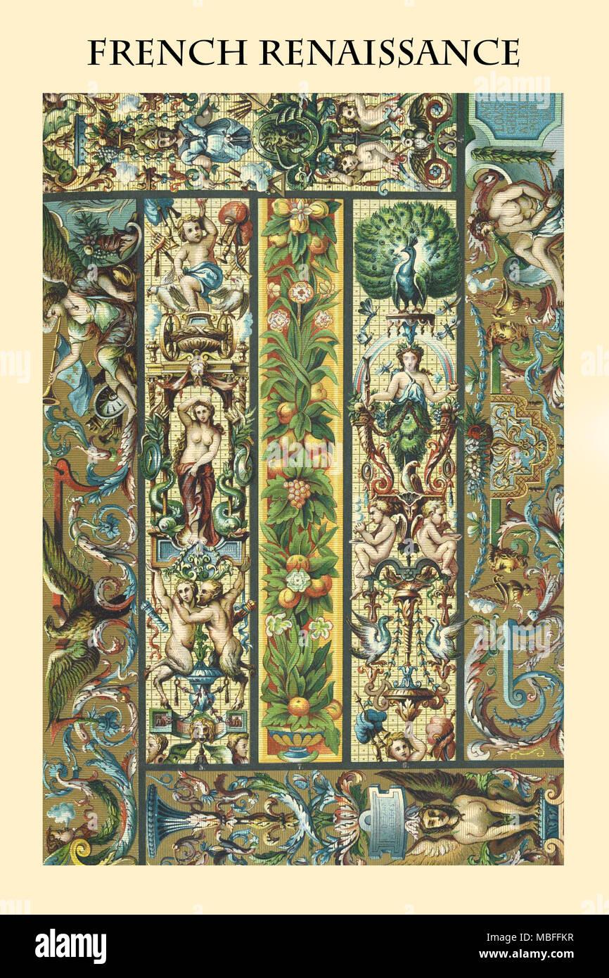 Ornament - der französischen Renaissance Stockbild