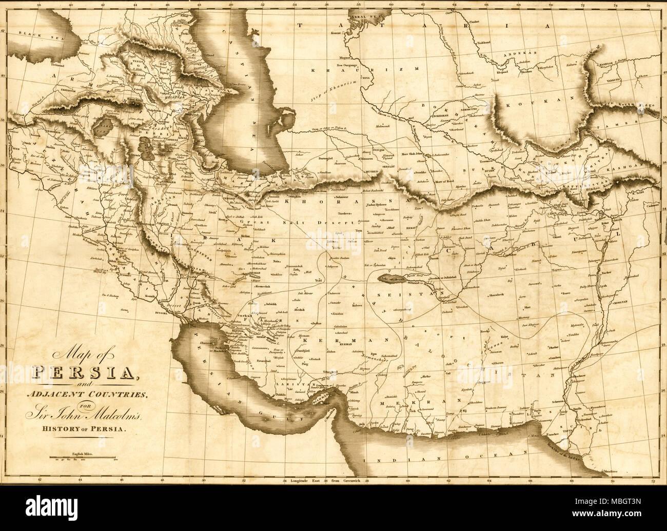 Persien Karte.Karte Von Persien Und Angrenzenden Ländern Für Sir John Malcolm Die