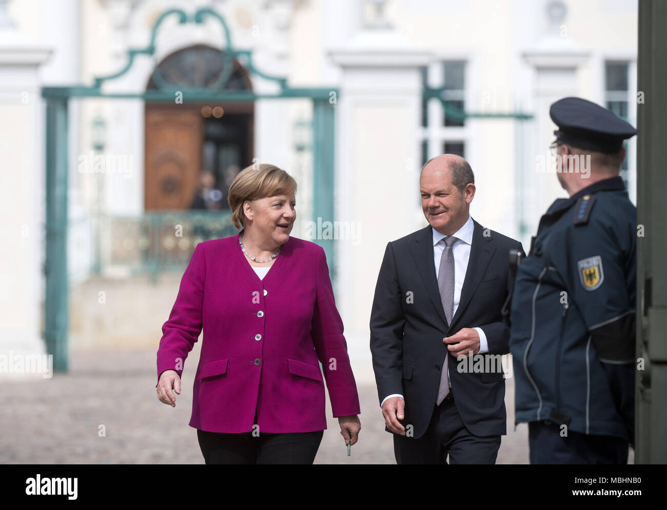 11 April 2018 Deutschland Meseberg Die Deutsche Bundeskanzlerin