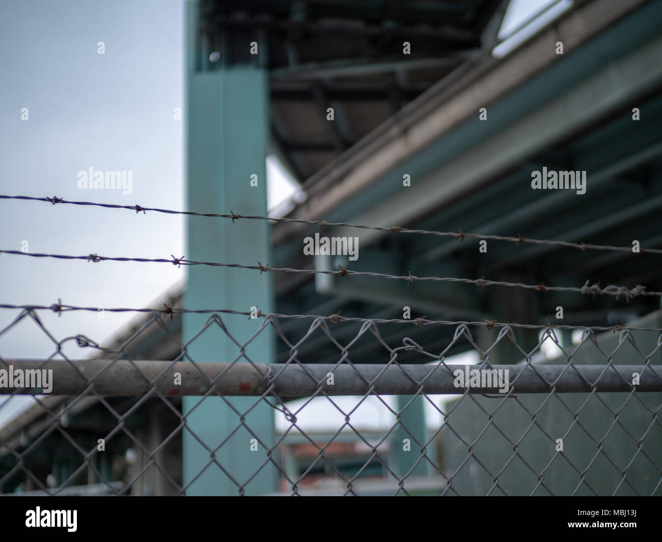 Security Fence Cut Out Stockfotos & Security Fence Cut Out Bilder ...
