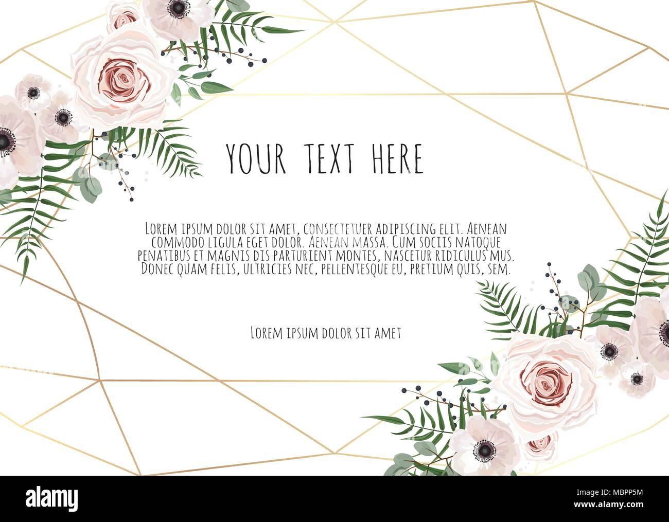 Vektor floral design Karte. Gruß, Postkarte Hochzeit Vorlage laden ...