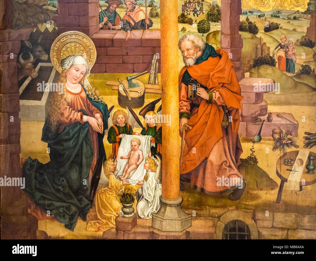 Malerei Weihnachten Szene, Geburt Christi, C. 1480, Museum ...