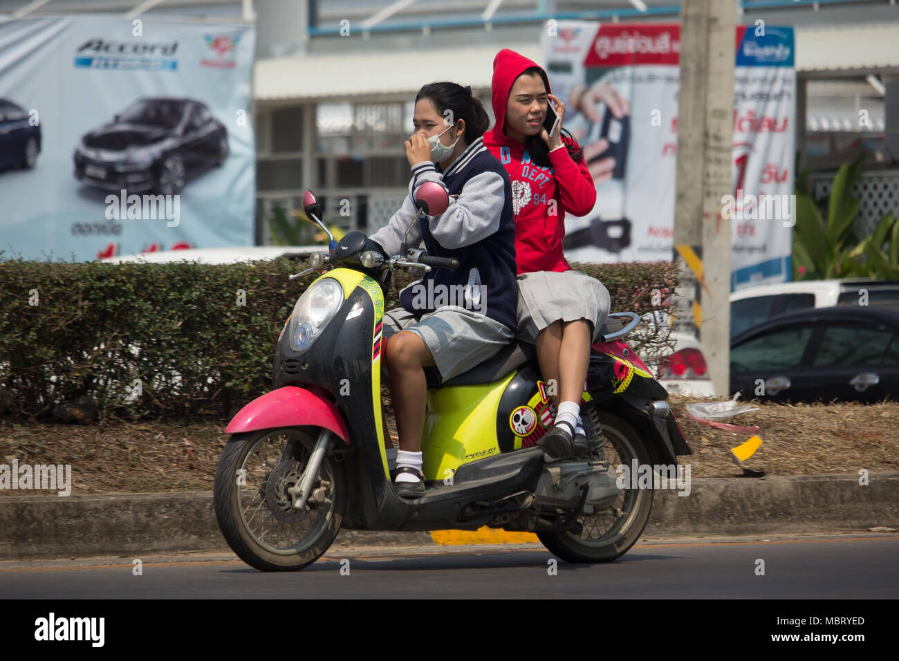MARZ 2018 Private Automatic Roller Honda Scoopy Ich Motorrad Auf Der Strasse Nr 1001 8 Km Von Chiangmai