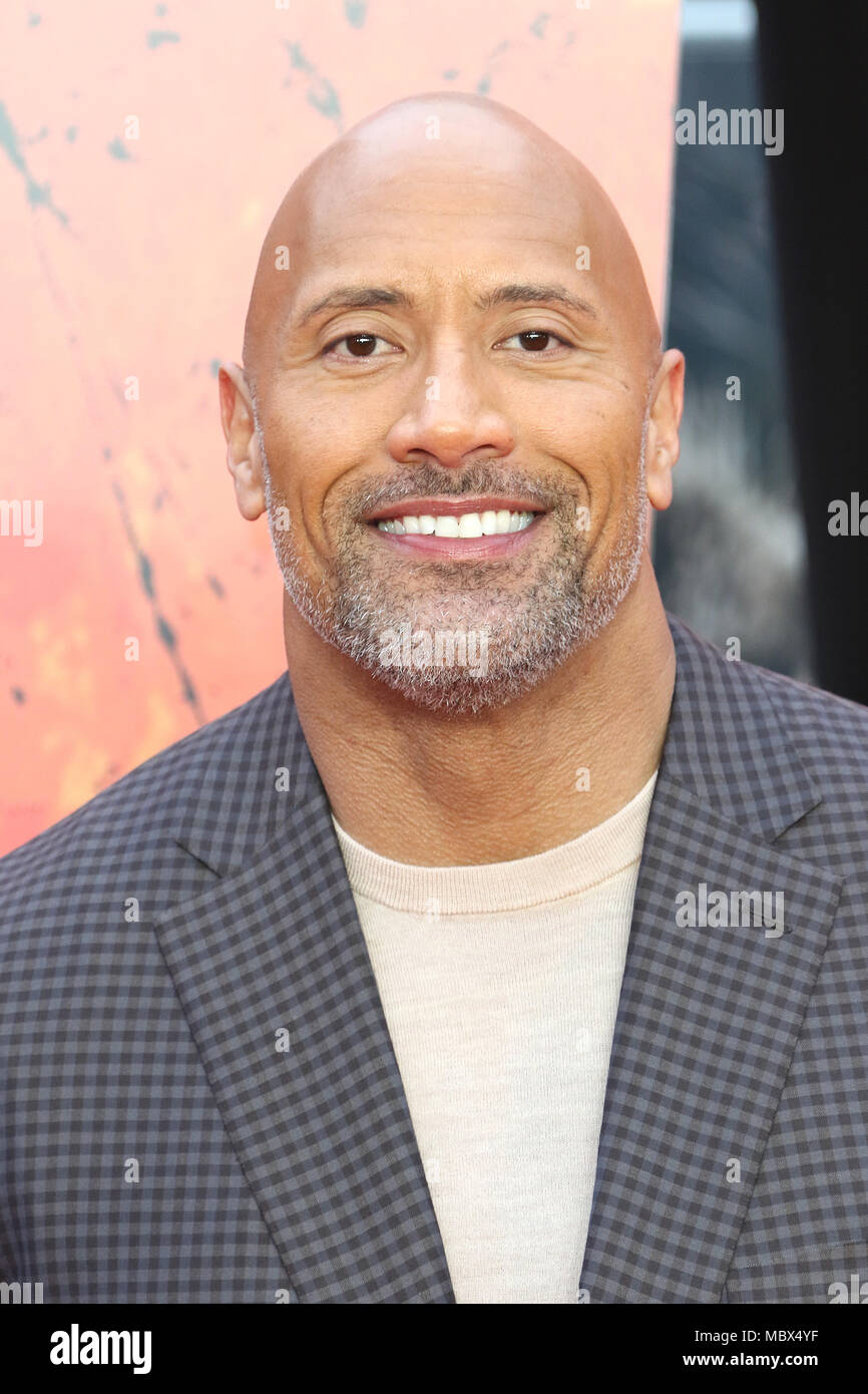 London, Großbritannien. 11. April 2018. Dwayne Johnson, Rampage - Europäische Premiere, Leicester Square, London, UK, 11. April 2018, Foto von Richard Goldschmidt Credit: Rich Gold/Alamy leben Nachrichten Stockfoto