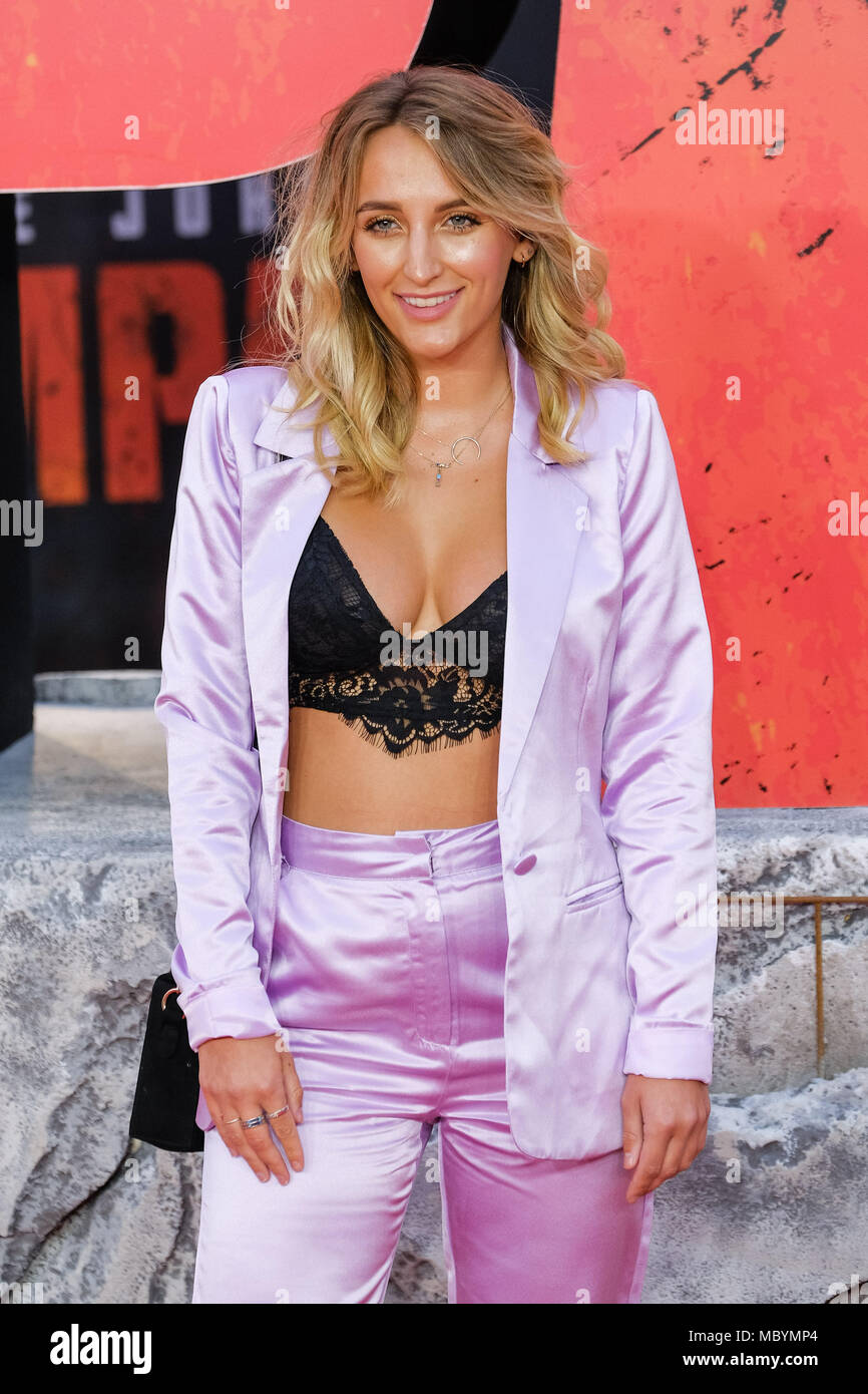 Tiffany Watson bei der Europäischen Premiere von Rampage am Mittwoch, den 11. April 2018 Cineworld Leicester Square, London statt. Im Bild: Tiffany Watson. Stockbild