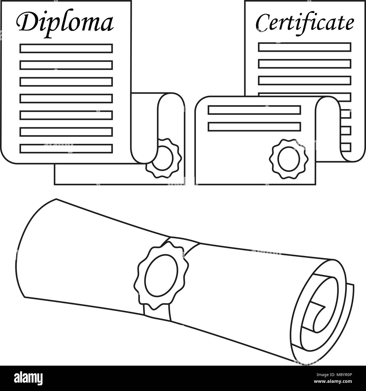 Certificate Scroll Diploma Stockfotos & Certificate Scroll Diploma ...
