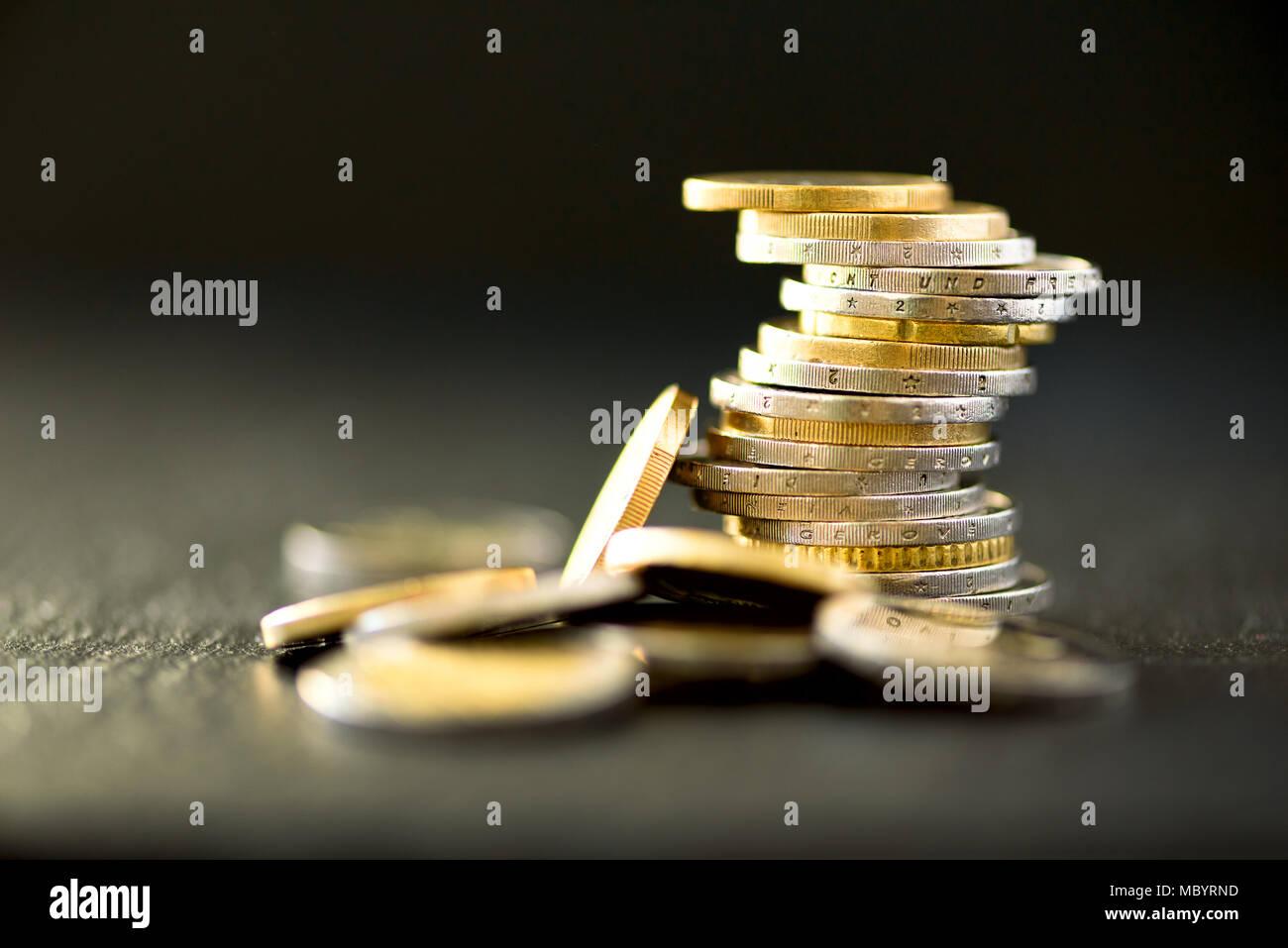Euro Geld Währung Erfolg Reichtum Und Armut Armut Konzept Euro