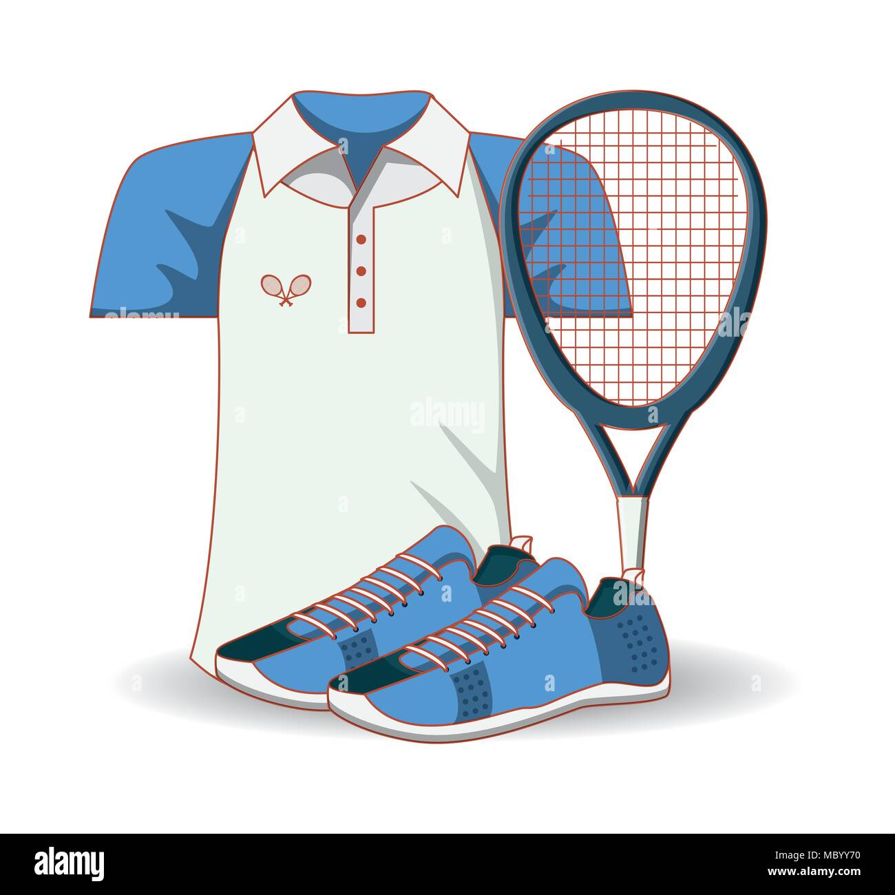 low priced 03e34 7c582 Tennis Kleidung der Männer Symbol Vektor illustration Design ...
