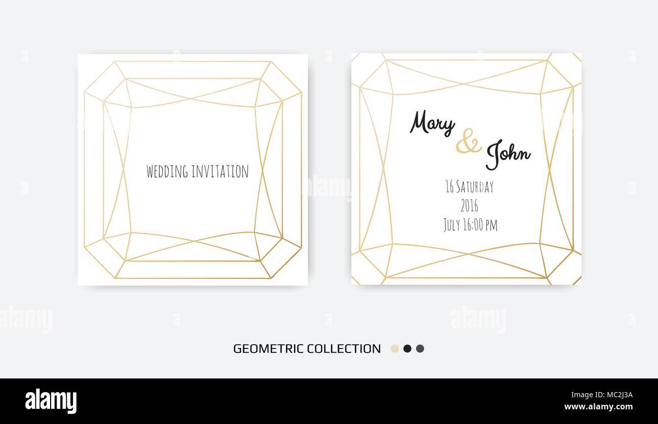 Wedding Invitation Template Vector Vectors Stockfotos & Wedding ...