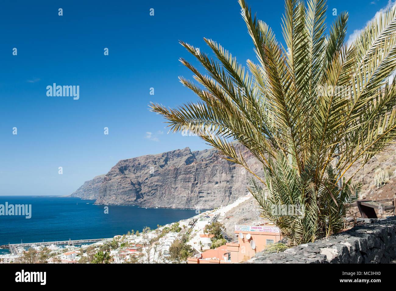 Los Gigantes, Santiago del Teide-Gemeinde an der West Küste von Teneriffa, Kanarische Inseln, Spanien Stockbild