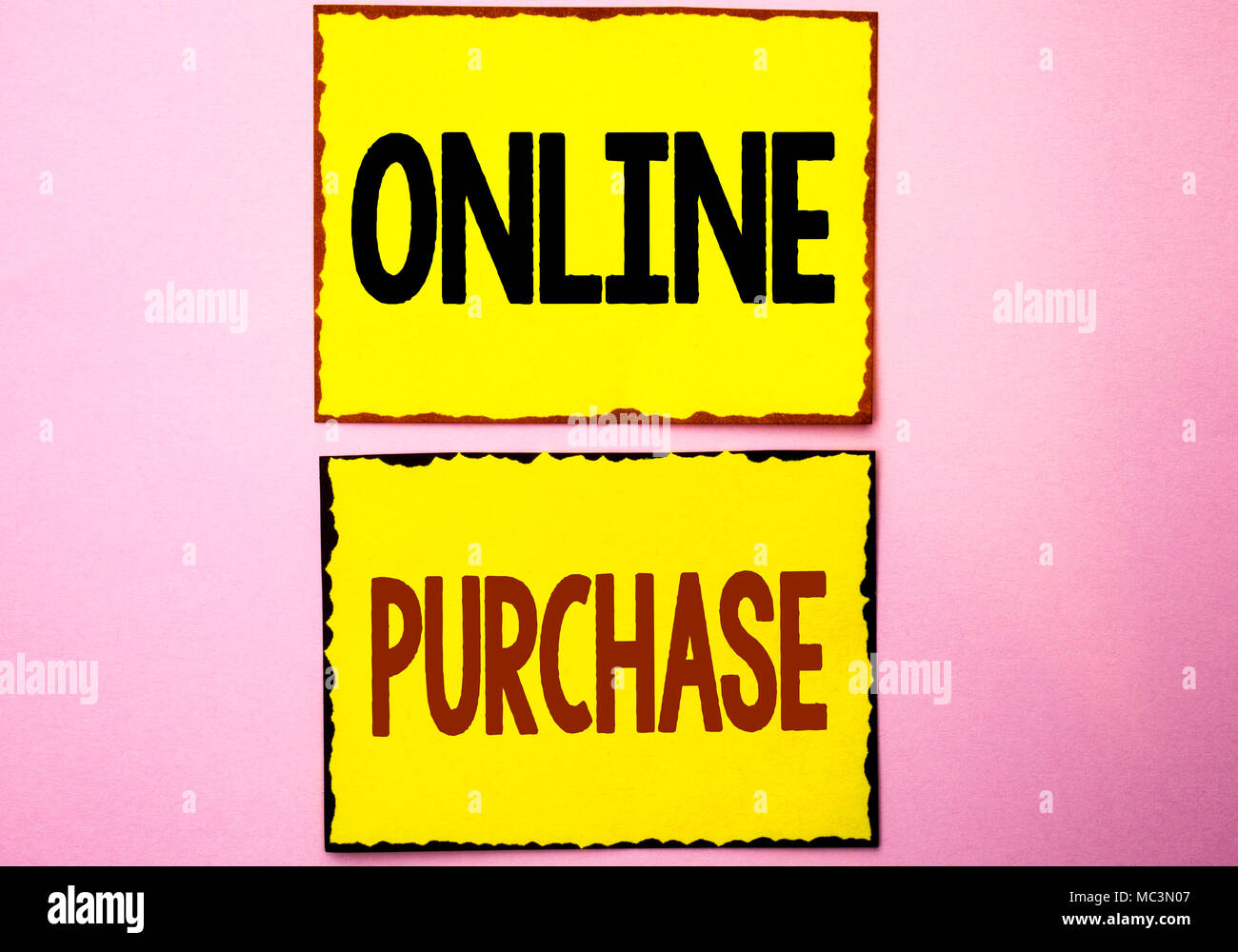 4752103d90ca73 Wort schreiben Text Online kaufen. Business Konzept für Sachen kaufen im  Netz einkaufen ohne das Haus verlassen zu müssen schriftliche Gelb  Haftnotizen die ...