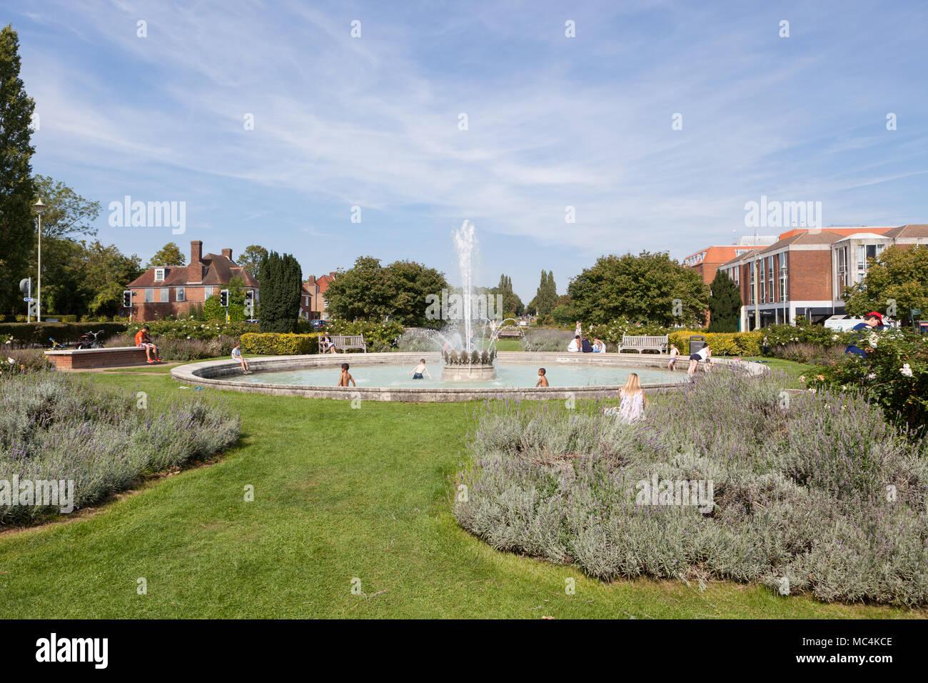 Welwyn Garten Stadt Stadtzentrum Stockfotos Welwyn Garten Stadt