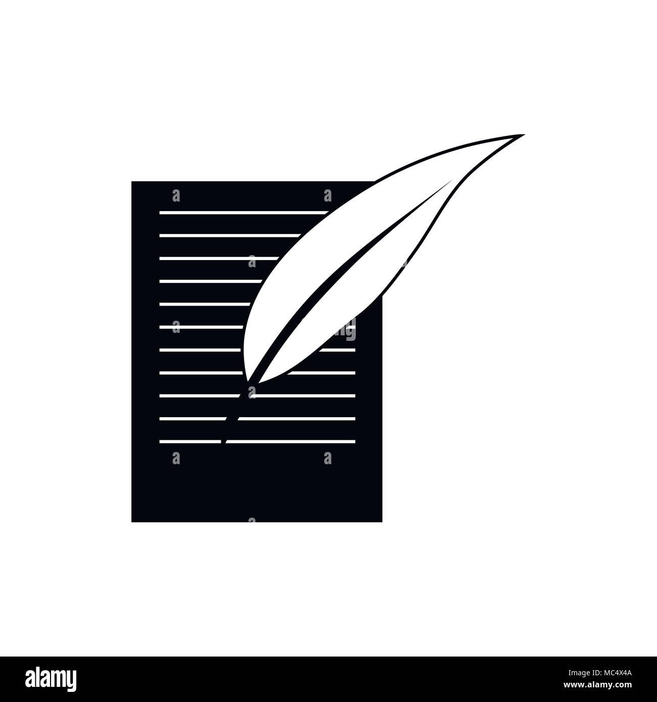 Testament Symbol in einem einfachen Stil Stock Vektor