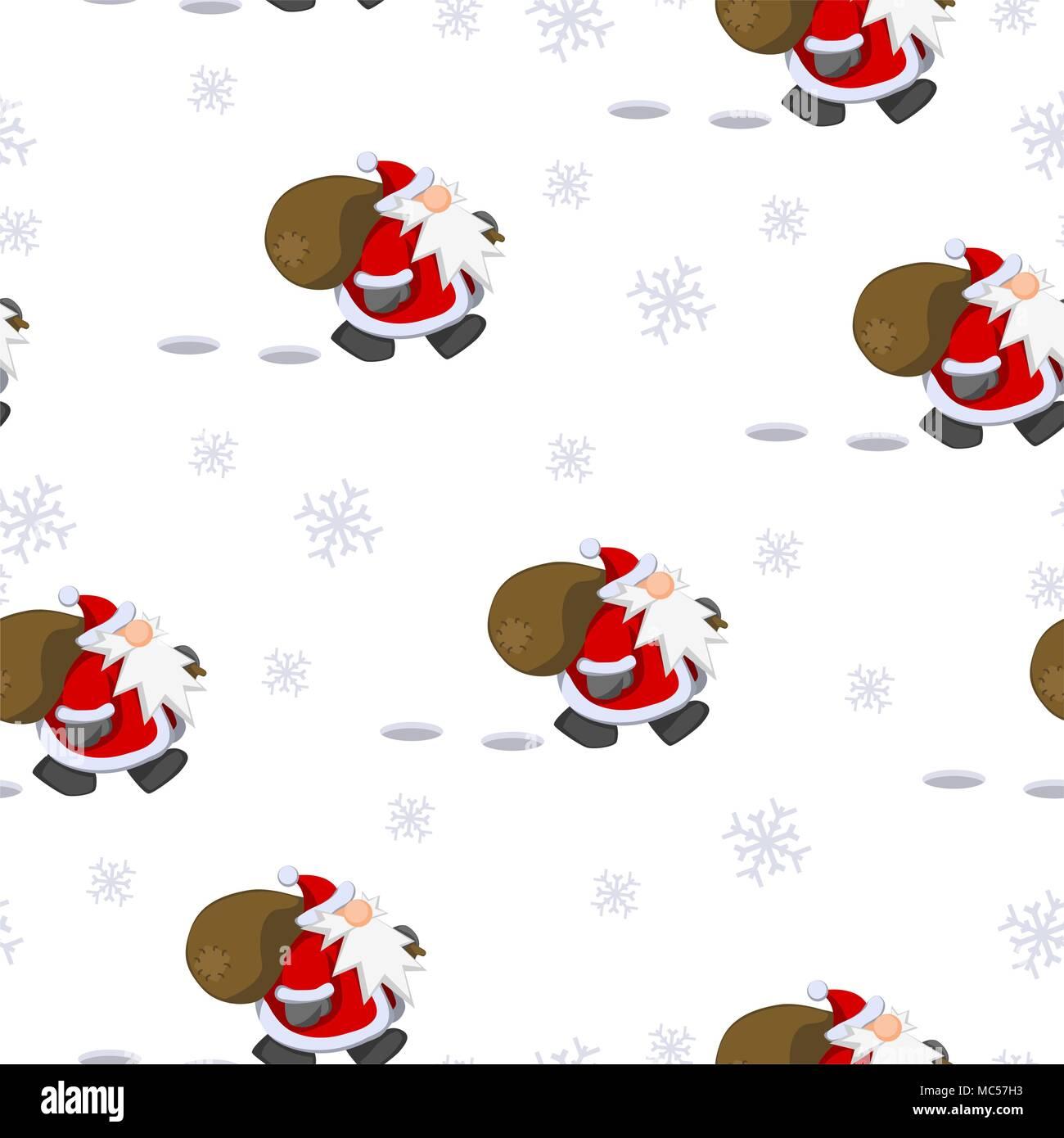 Cartoon Santa Claus Charakter Weihnachten fliesen Tapeten Muster ...
