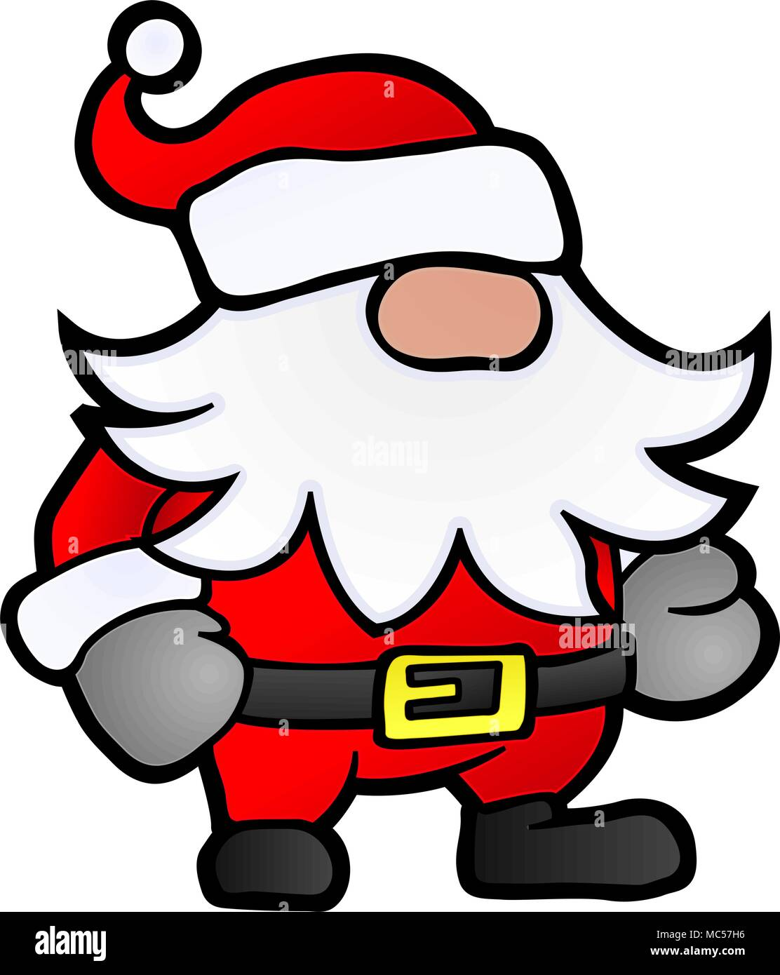 Kleine Weihnachtsmann Cartoon Stilisierte Vektor