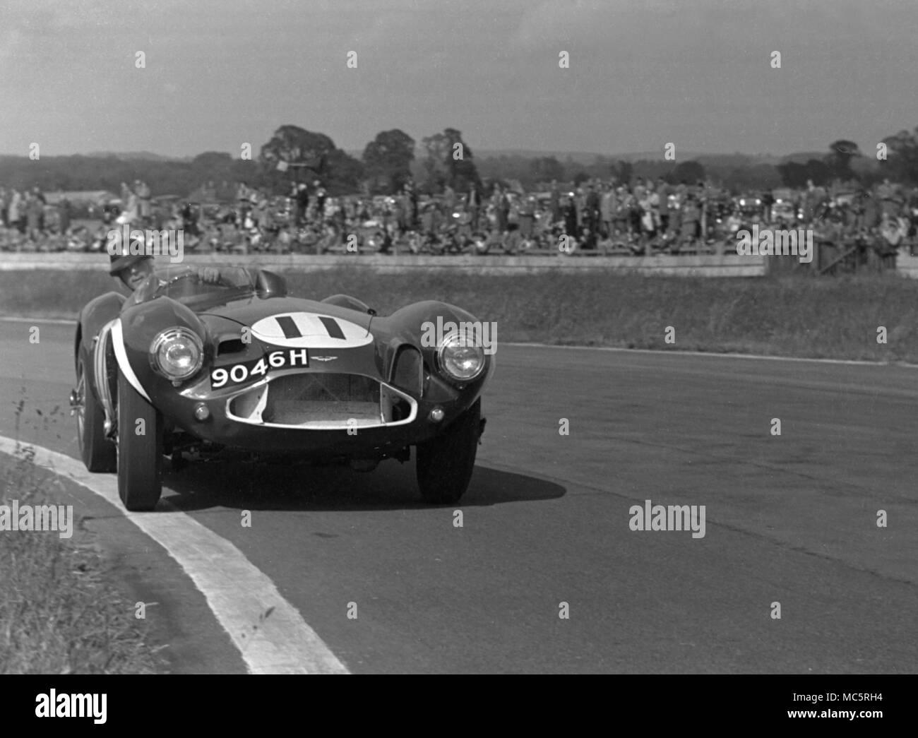 Aston Martin DB 3 S Peter Blond, Goodwood Pfingstmontag treffen 10/06/1957 Stockbild