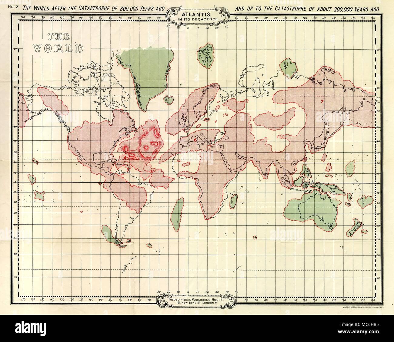 Atlantis Atlantis In Seiner Dekadenz Karte Von Atlantis Und Die