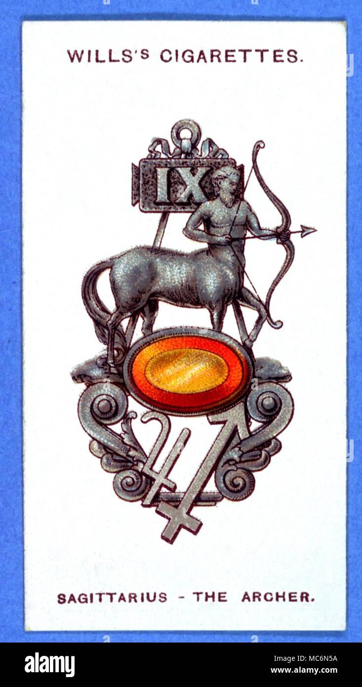 sternzeichen sch tze zigarette card serie von lucky chams mit lucky edelstein topas stockfoto. Black Bedroom Furniture Sets. Home Design Ideas
