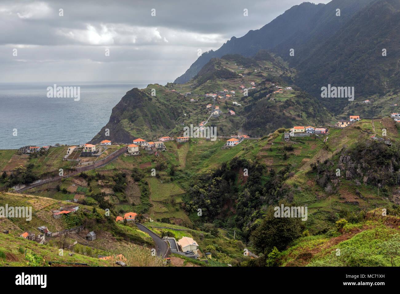 Porto da Cruz, Santa Pola, Madeira, Portugal, Europa Stockbild