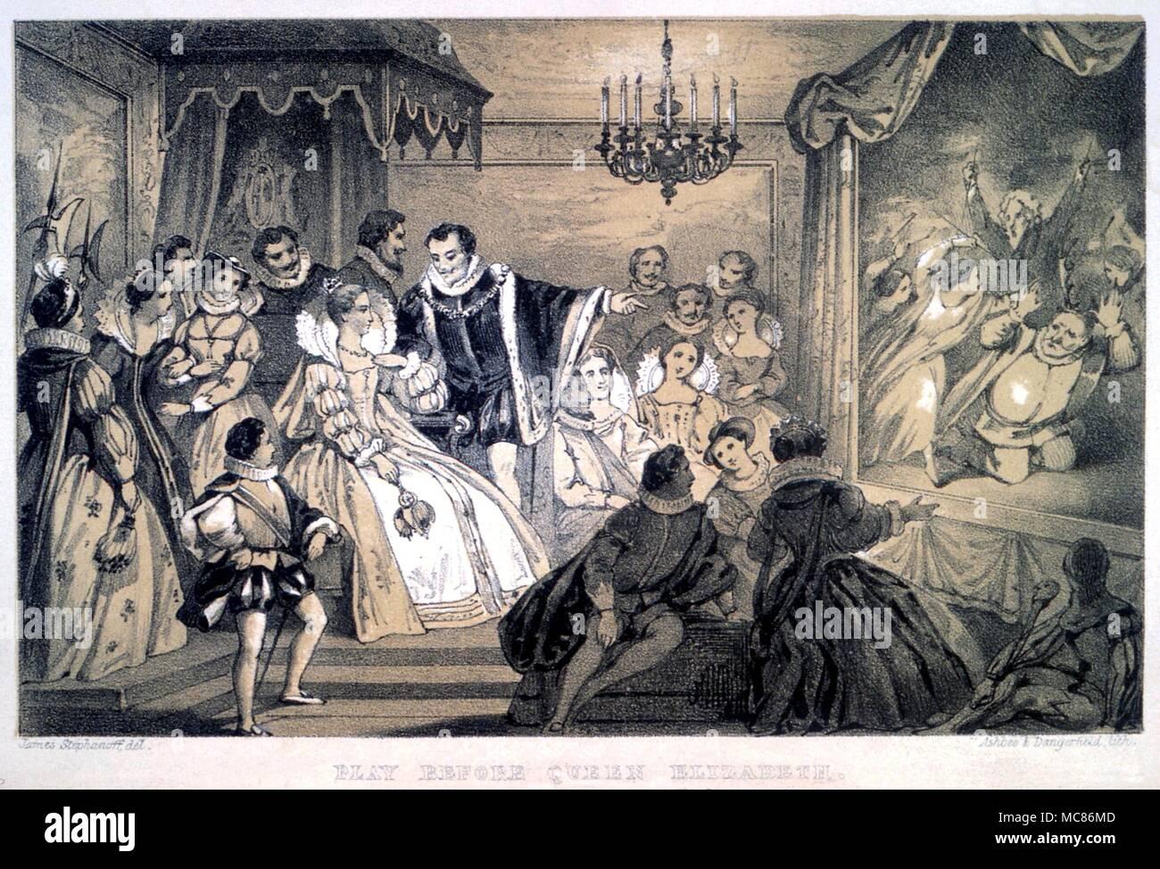 Weihnachtslieder Geschichte.Weihnachten Spielen Durchgeführt Bevor Elizabeth I Chromo