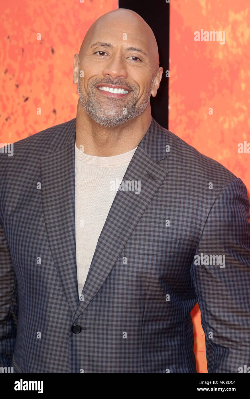 London, UK, 11. April 2018. Dwayne Johnson besucht die Rampage Film Premiere Stockfoto