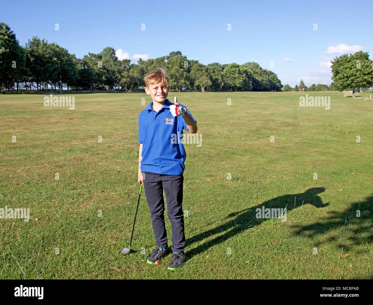 Junior-golfer Stockbild