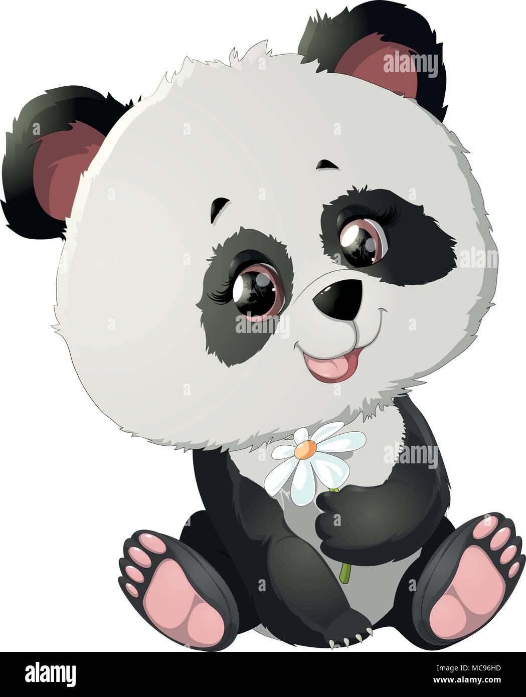 679db2075579a4 Niedlicher Panda Bär Illustrationen Vektor Abbildung - Bild ...