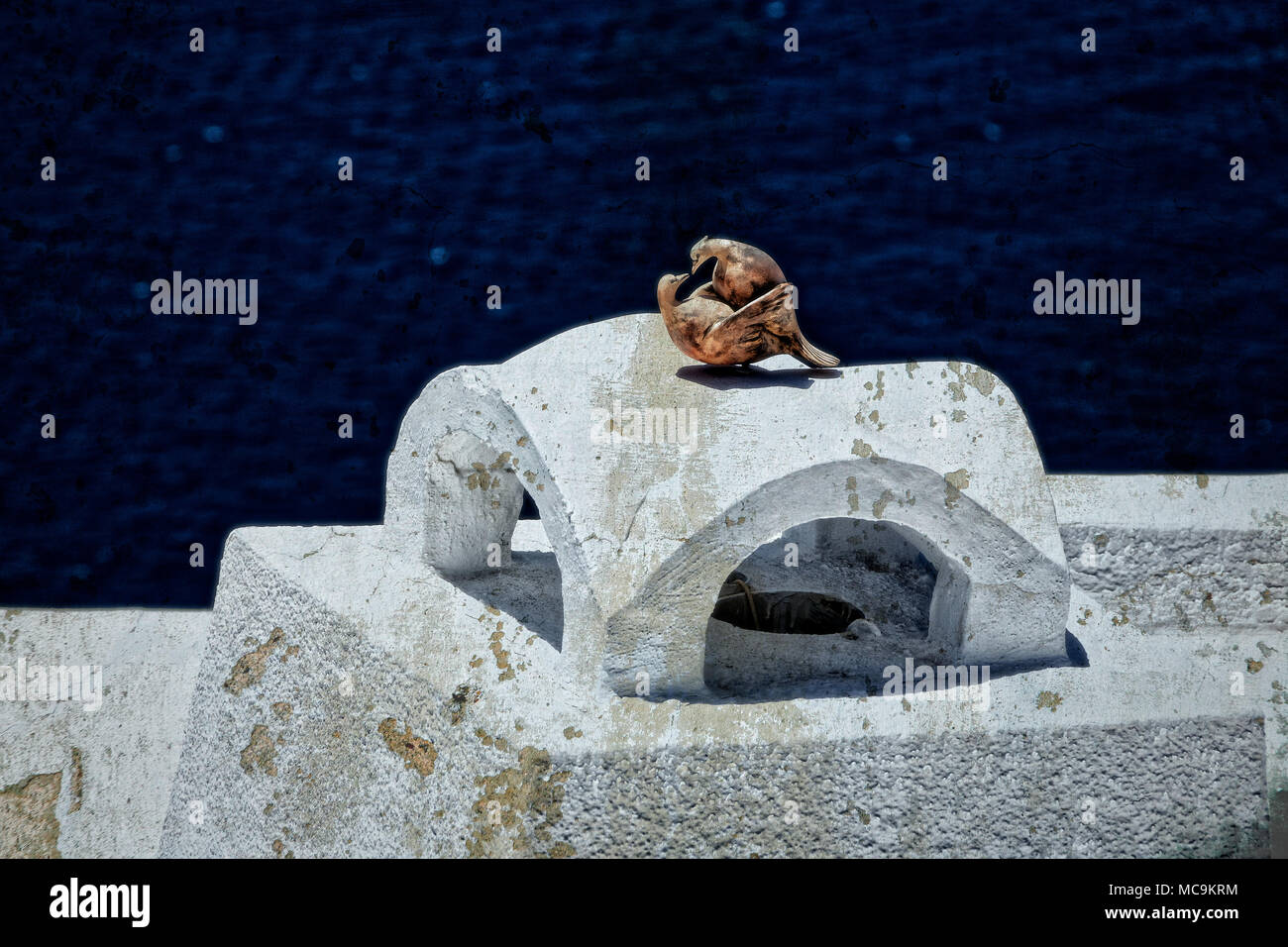Santorini Stockbild