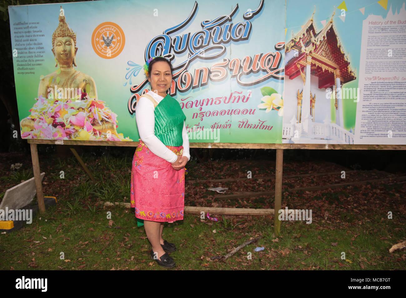 London, Großbritannien, 15. April 2018 Die thailändische Gemeinde in ...