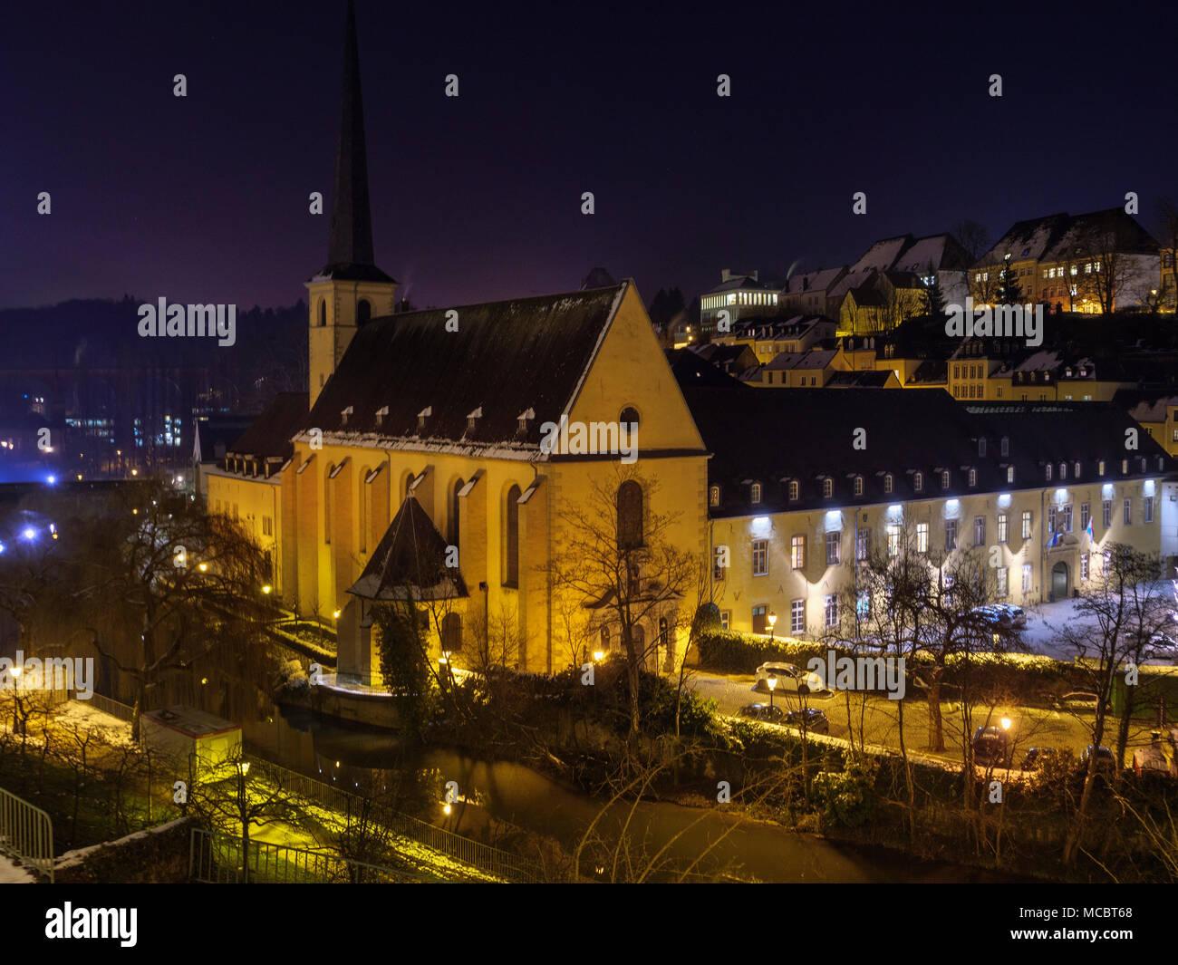 Abtei Neumünster, Wengen, der Stadt Luxemburg, Europa, UNESCO HeritageHeritag Stockbild