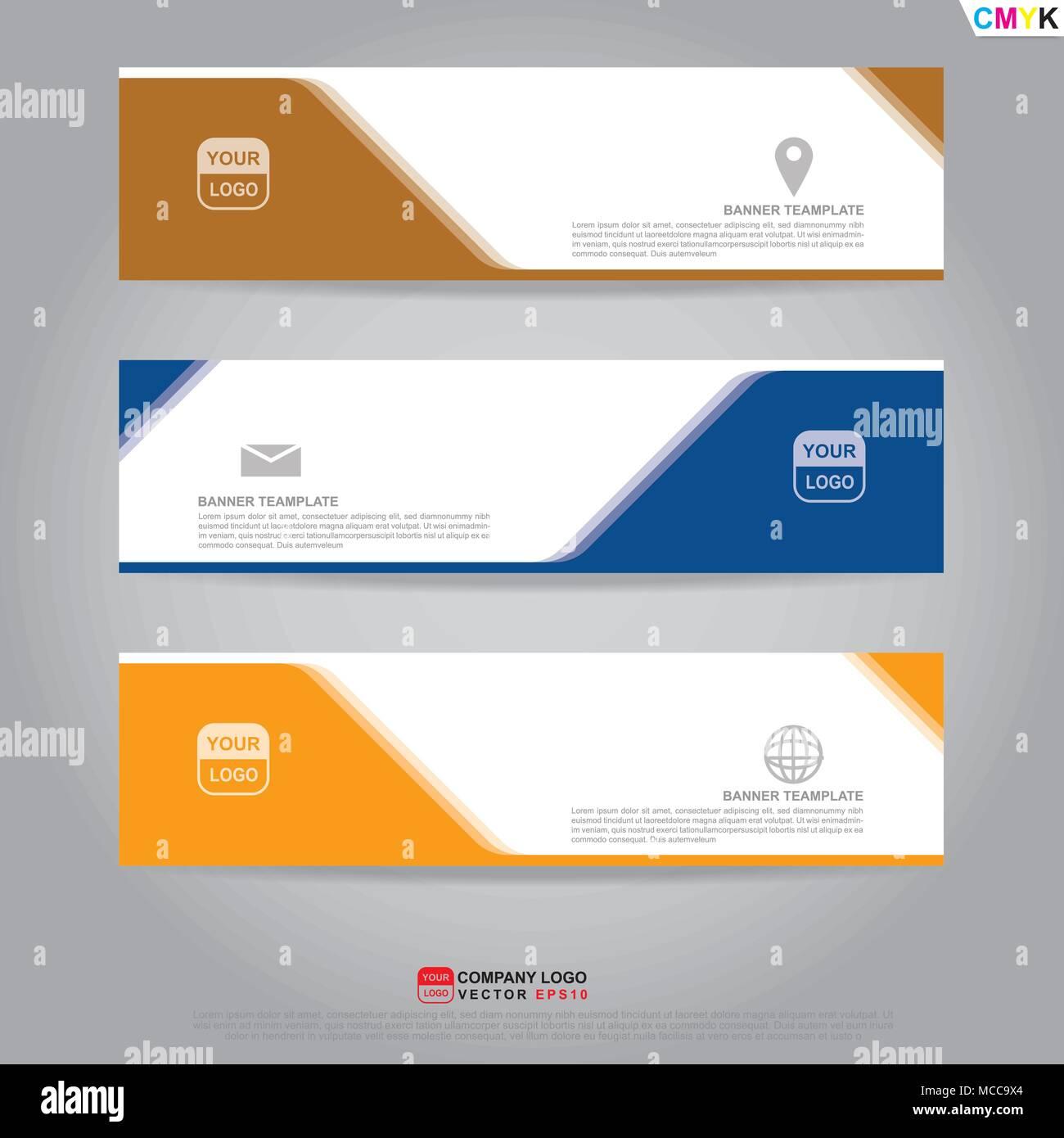 Vorlage Von Banner Broschüre Flyer Und Visitenkarten