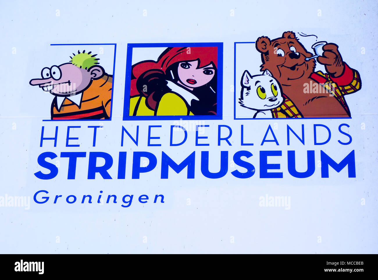 Het Nederlands Stripmuseum, (der Cartoon/Comic Museum) Groningen, Niederlande Stockbild