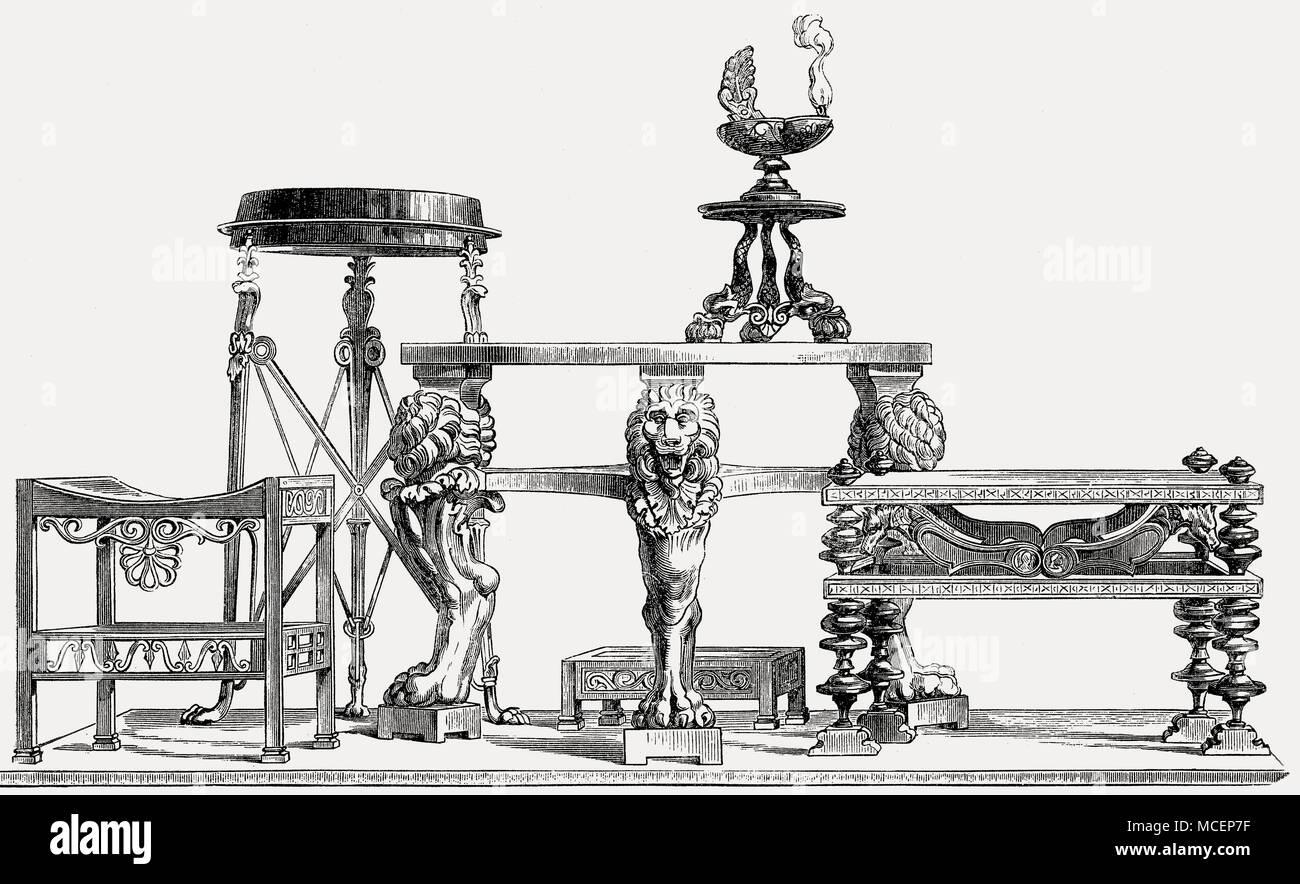 Möbel im alten Rom Stockbild