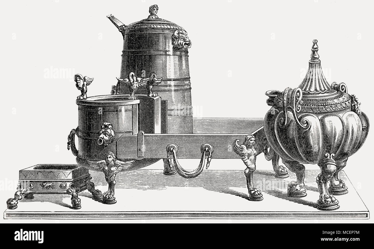 Küche Instrumente im alten Rom Stockbild