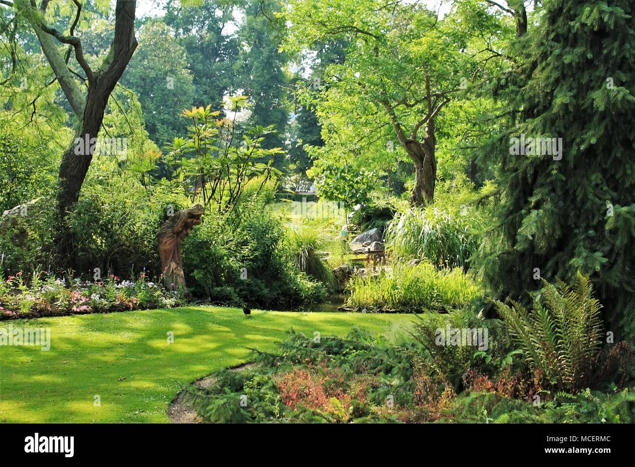 Jardin des Plantes (Botanischer Garten) von Nantes, Loire Atlantique ...